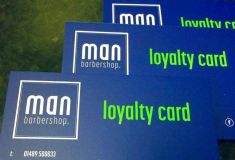 Man Barbershop Loyalty Cards
