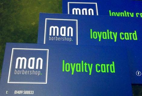 Man Barbershop Loyalty Cards