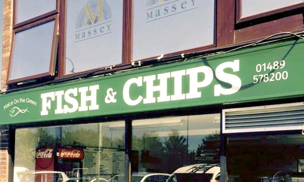 Fish & Chips Shop - Sarisbury Green Signage