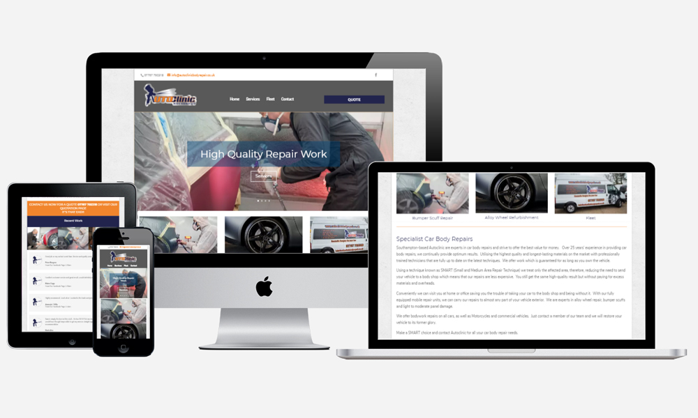 Website Design in Southampton - AutoClinic