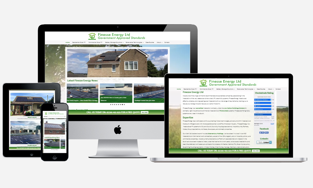 Website Design in Southampton - Finesse Energy
