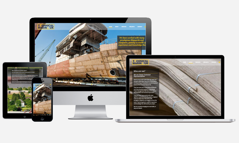 Technical Marine UK - Website Design in Southampton