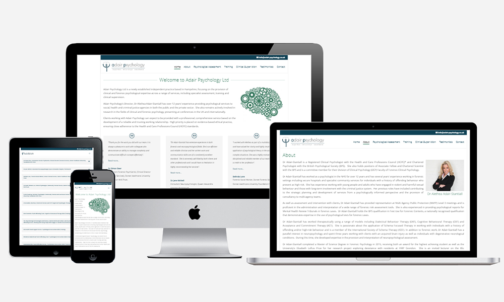 Website Design in Southampton - Adair Psychology