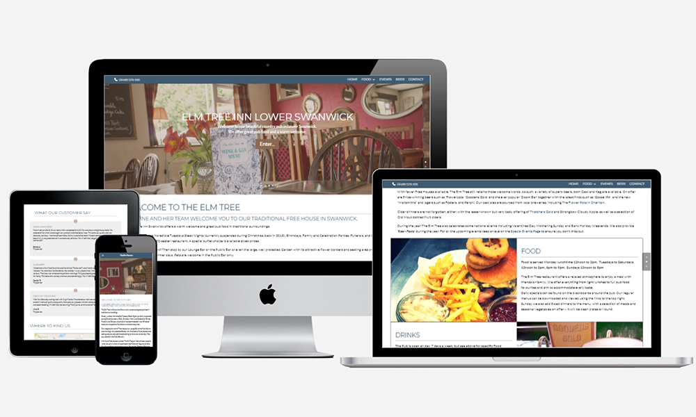 Website Design in Southampton - Elm Tree Inn