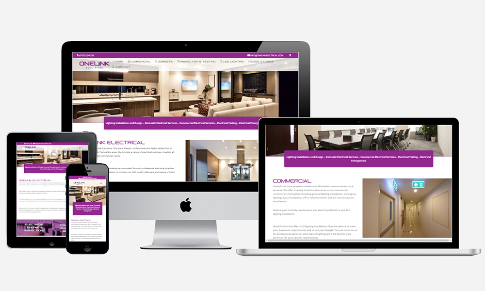 Website Design in Southampton - Onelink Electrical